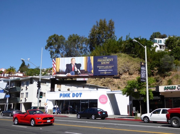 President Show Comedy Central billboard