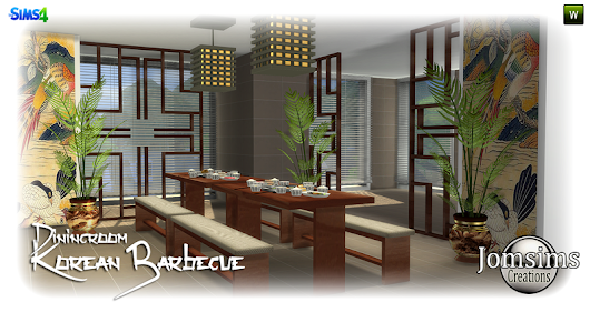Korean Barbecue dining room click image to download area dining room on http://www.jomsimscreations.fr WEBSITE