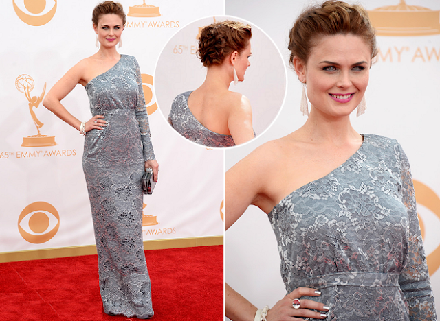 Emily Deschanel in Houghton – 2013 Emmy Awards