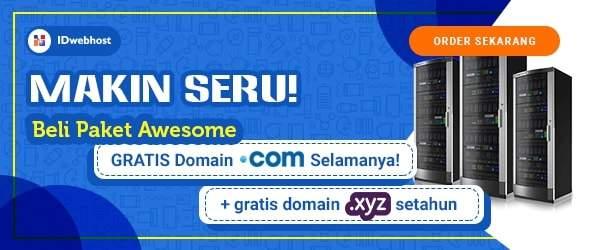 Gratis Domain .COM Selamanya