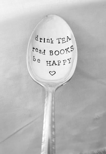 "Łyżeczka ""drink Tea read BOOKS be HAPP"""