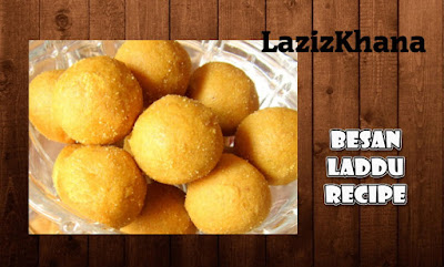Besan Ladoo Recipe in Roman English - Besan ke Ladoo Banane ka Tarika