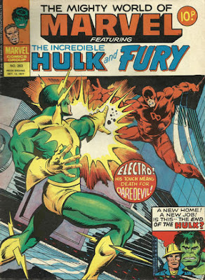 Mighty World of Marvel #263, Daredevil vs Electro