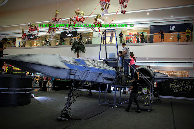 Star Wars Rebel fighter jet, SM Mall of Asia, Manila, Philippines