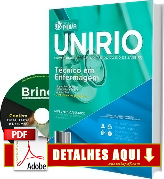 Apostila UNIRIO 2016 Técnico em Enfermagem Impressa