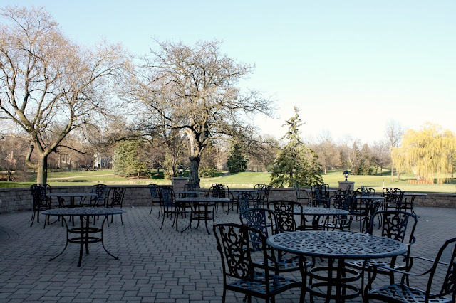 Patio and fairway of Itasca Country Club