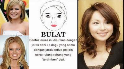 gaya rambut wanita dengan wajah bulat