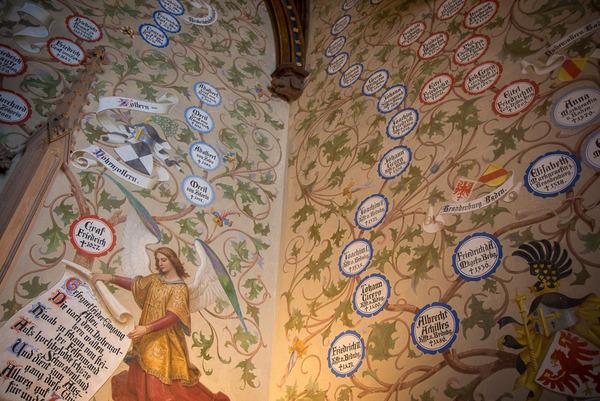 Sala del Árbol Genealógico (Castillo Hohenzollern, Alemania)