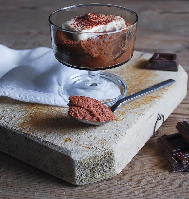 Mousse de chocolate con crema de Bailey's