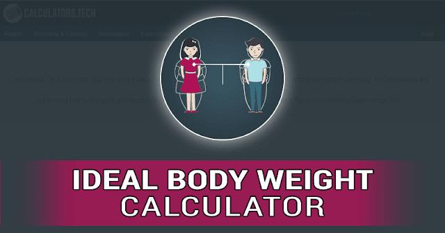 حساب الوزن المثالي للجسم IBW
