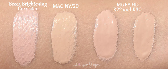 MUFE HD Concealer R22 R30 Swatches