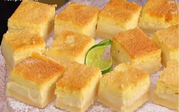 Receita de torta italiana de camadas (Imagem: Reprodução/TV Gazeta)