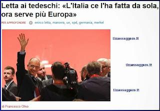 «L'Italia ce l'ha fatta da sola, ora serve più Europa».