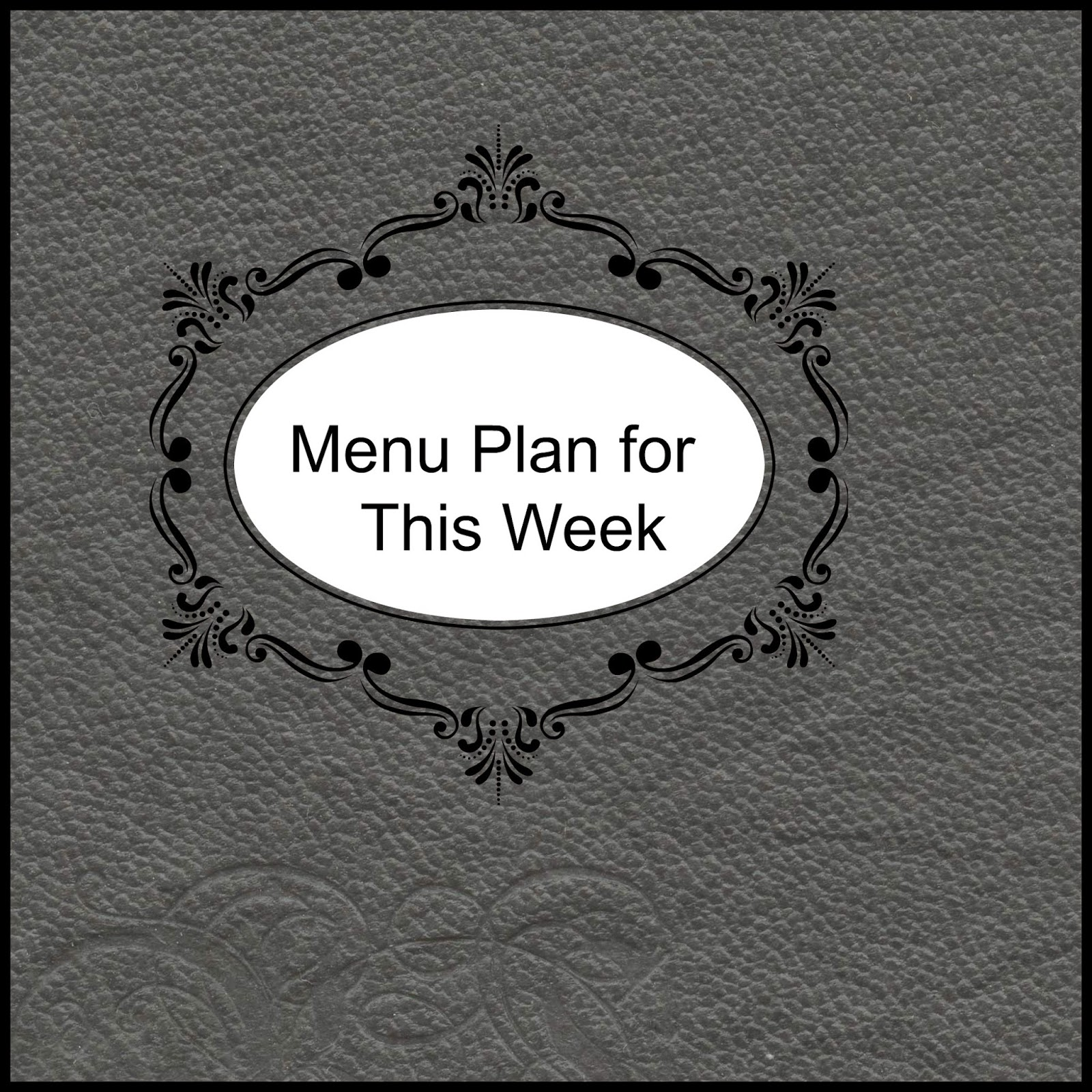 Menu plan picture