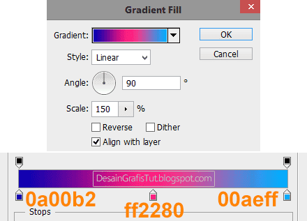 Settingan-gradient-fill-di-Photoshop