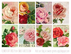 Sweet Nothings Free Printable Vintage Floral Gift Tags