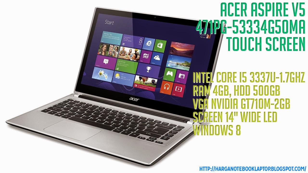 Spesifikasi Terbaru Acer Aspire V5-471PG-53334G50Ma Touch