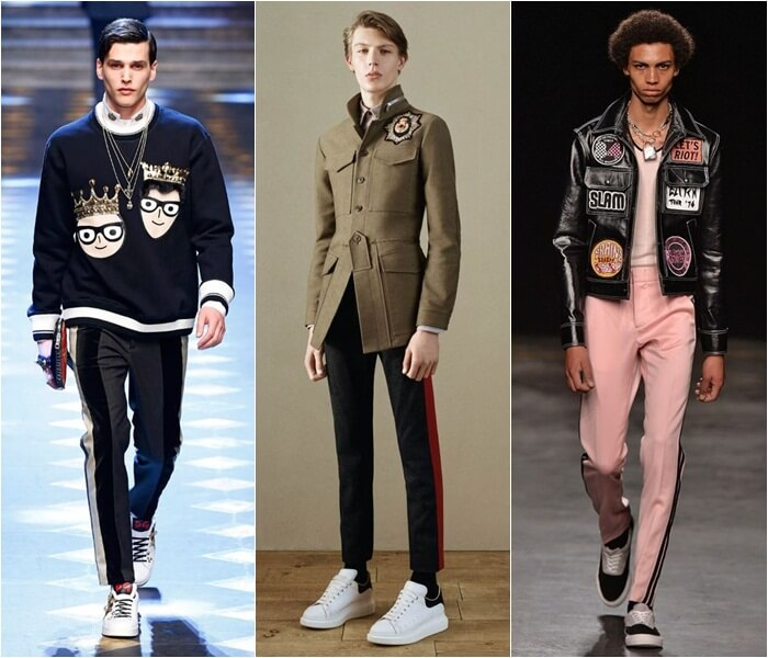 tendencia calça com listras