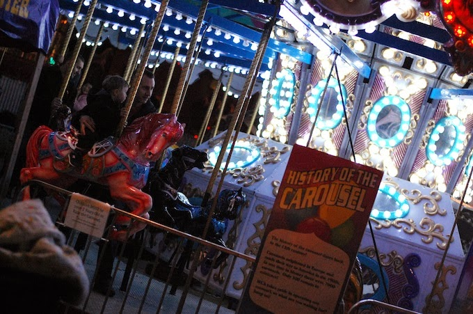Vancouver Christmas Market carousel