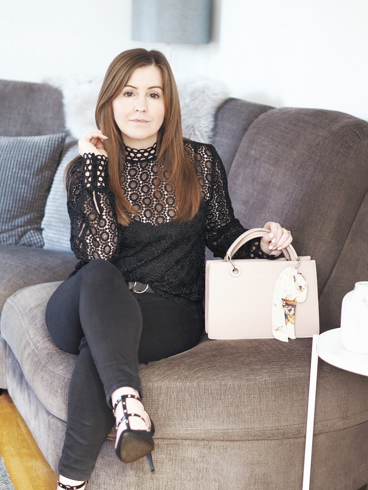 H&M lace blouse \ Priceless Life of Mine \ over 40 lifestyle blog