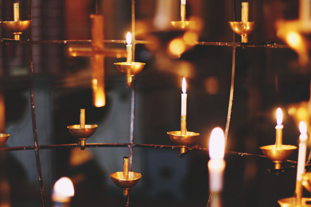 Stockholm Cathedral Candles