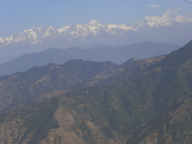 Himalayan Peak view from Dhanaulti