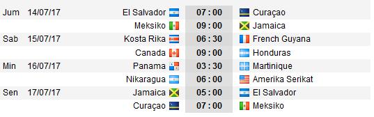 Jadwal pertandingan sepakbola CONCACAF Gold Cup 2017