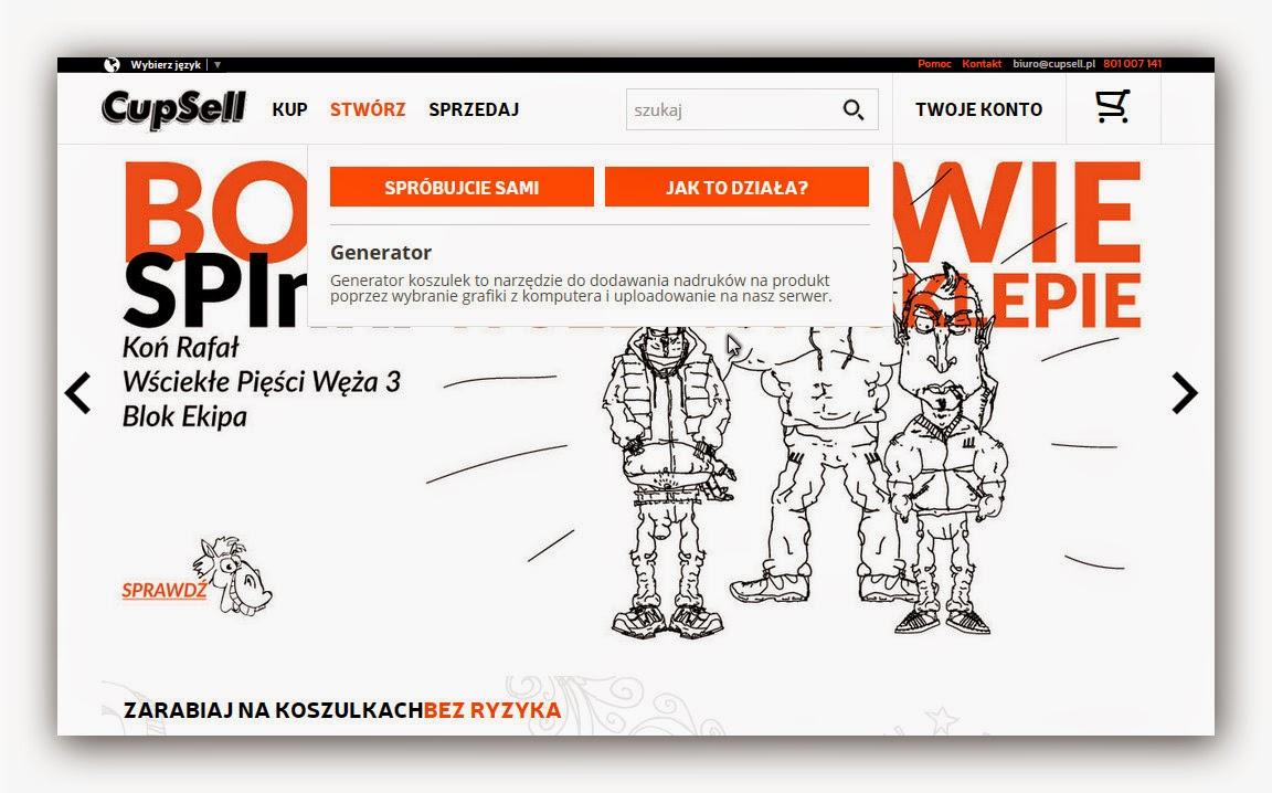 cupsell.pl zarabianie na koszulkach