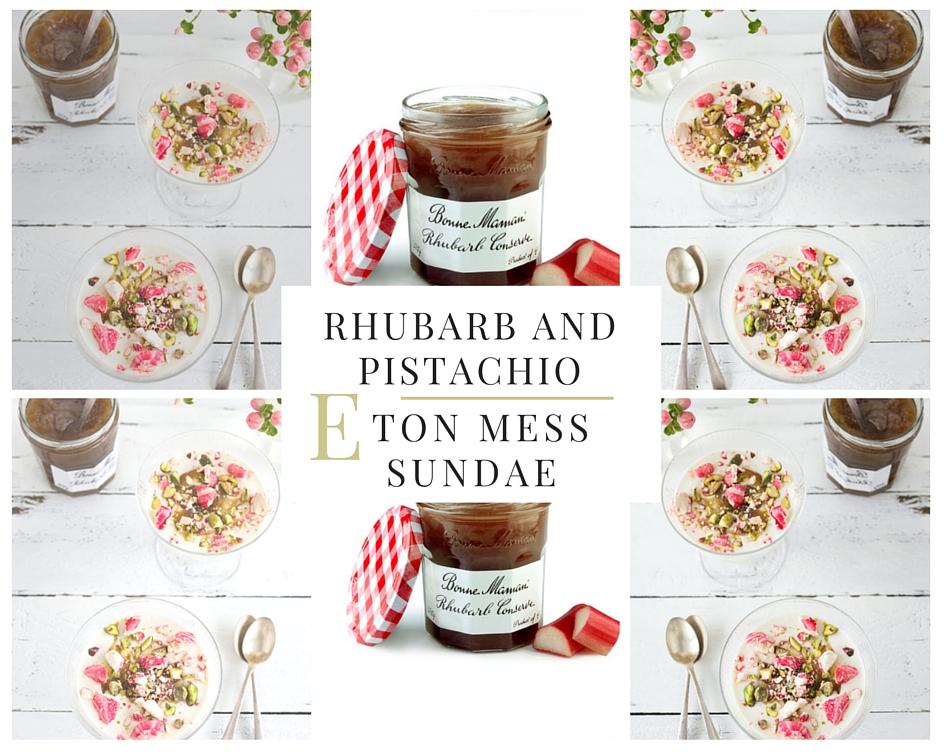 Rhubarb And Pistachio Eton Mess Sundae Recipe