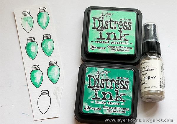 Layers of ink - Sparkly Santa Card Tutorial by Anna-Karin with Making Spirits Bright SSS products