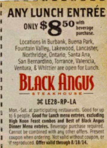 picture regarding Black Angus Printable Coupons referred to as black angus coupon codes for june 2015
