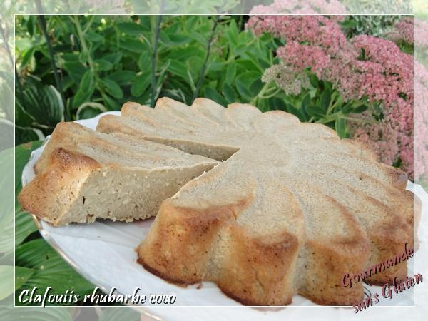 Clafoutils rhubarbe coco, sans gluten