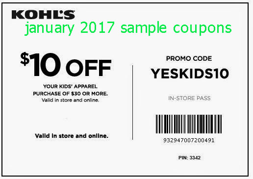 Kohls printable coupon code january 2018
