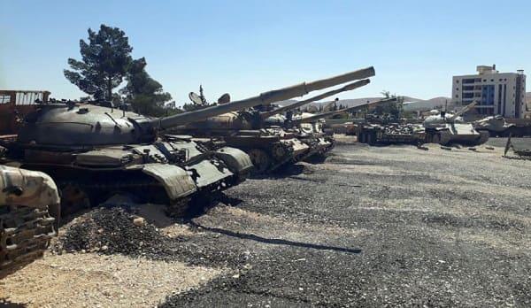 العثور على دبابات وأسلحة ثقيلة في القلمون الشرقي-فيديو