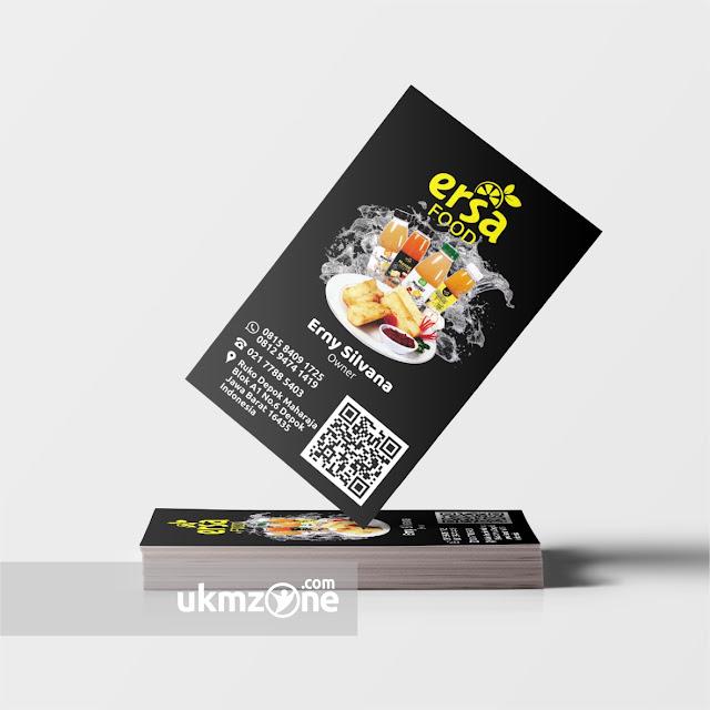 Jasa desain ukm jasa branding ukm - Desain kartu nama untuk usaha UKM UMKM IKM kuliner
