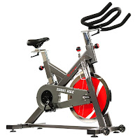 Sunny Health & Fitness SF-B1712 Indoor Cycle Spin Bike, review features compared with SF-B1714, with 44 lb flywheel and belt drive