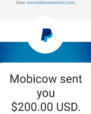 Bukti Bayaran Komisen Mobicow Cara Mudah Jana Duit USD!