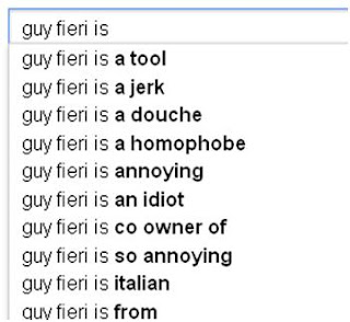 Guy Fieri Google Autofill