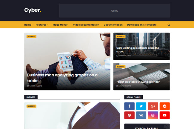 Cyber - Responsive Blogger Template