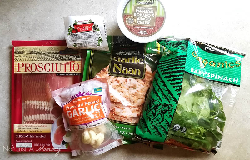 Prosciutto + Spinach Flatbread Pizza ingredients from Trader Joe's