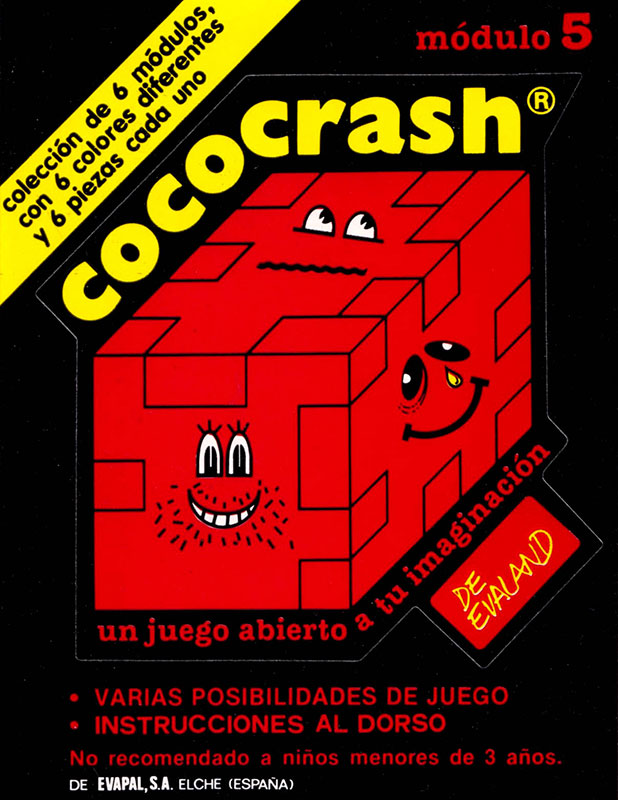 Cococrash 1986 Pegatina nivel 5