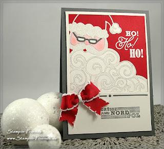 Weihnachtskarte basteln, Stampin-Friends