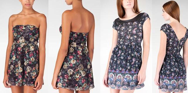 vestidos floreados 2013 stradivarius