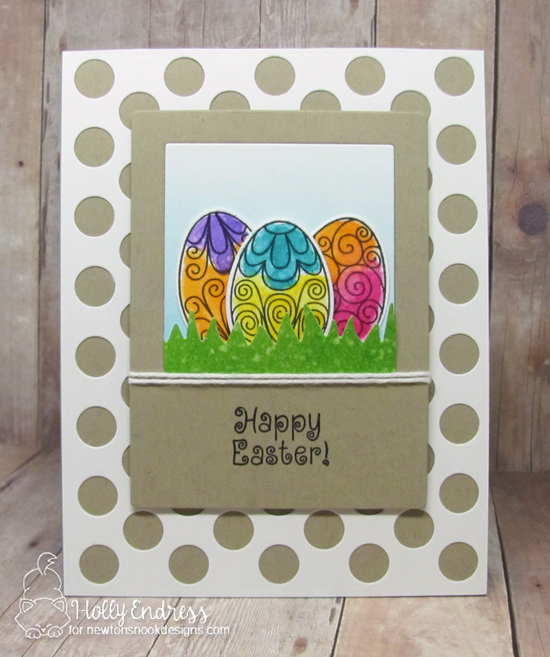 Easter egg card by Holly Endress | Beautiful Spring Stamp Set by Newton's Nook Designs
