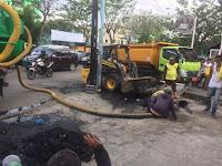Lagi, Dinas PU Normalisasi  Drainase Jalan Sisingamangarajaa