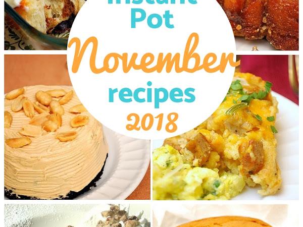 November 2018: Monthly Recipe Round Up!