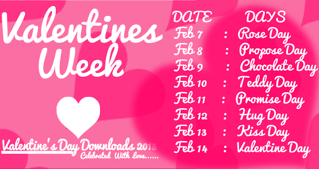 Valentine Week List 2017 Dates Days Schedule Timetable Calendar