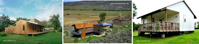 Tres modelos de casas rurales contemporáneas en Estados Unidos