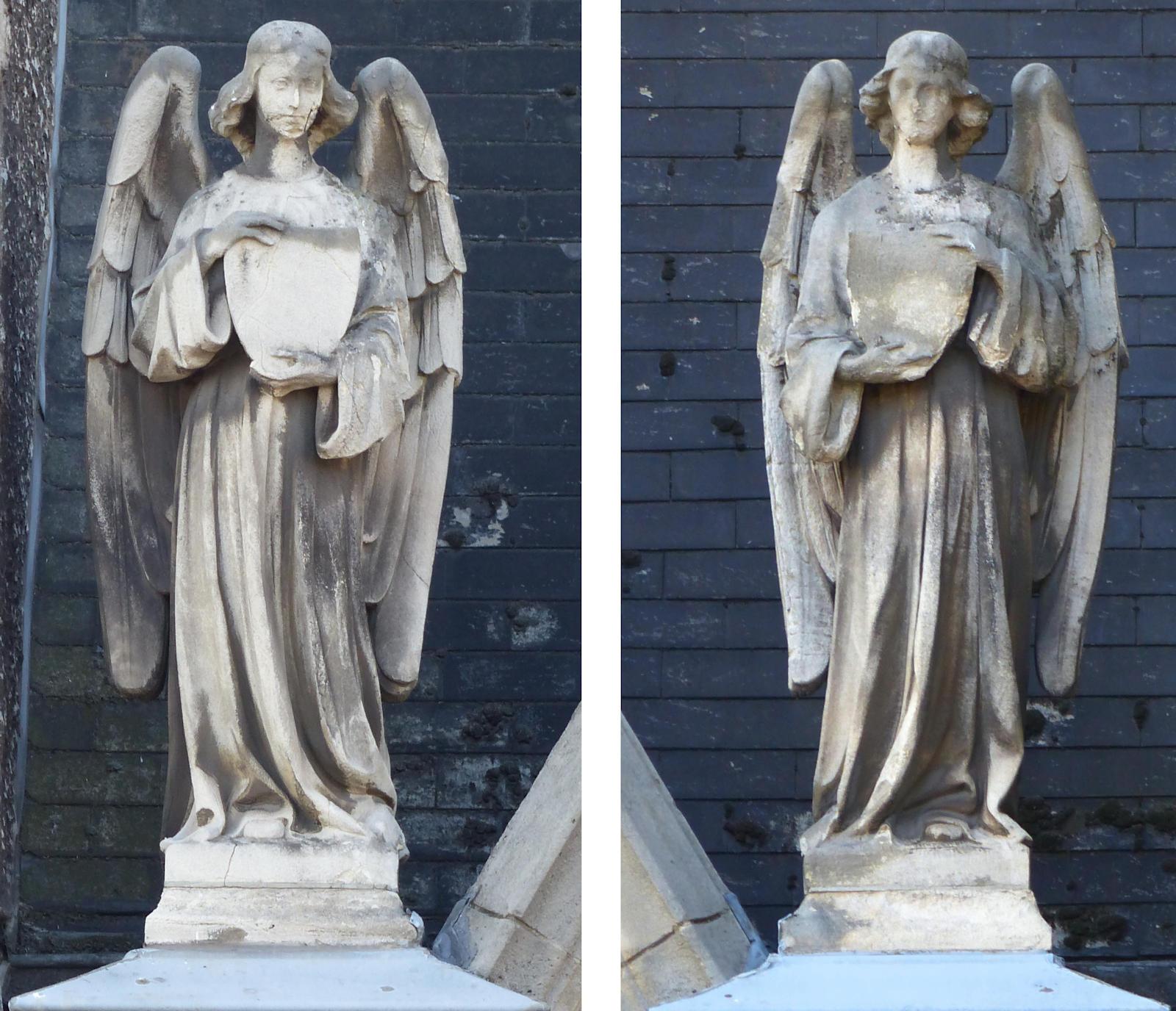 Chapelle du Voeu, Tourcoing - Anges de la façade