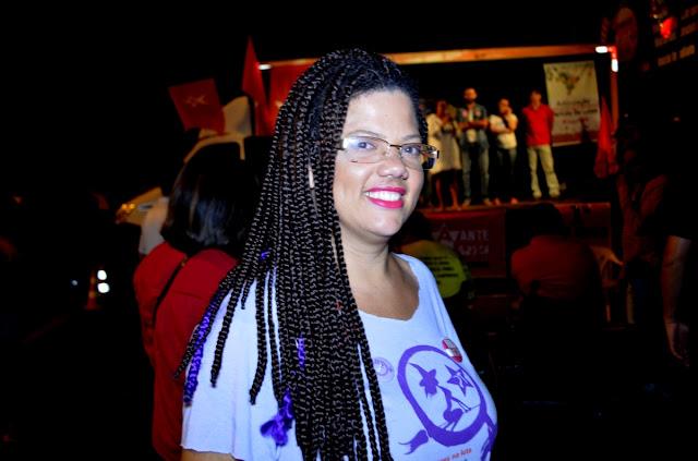 Carliene Sena, ativista da Marcha Mundial das Mulheres - MMM Foto Joaquim Dantas/Blog do Arretadinho